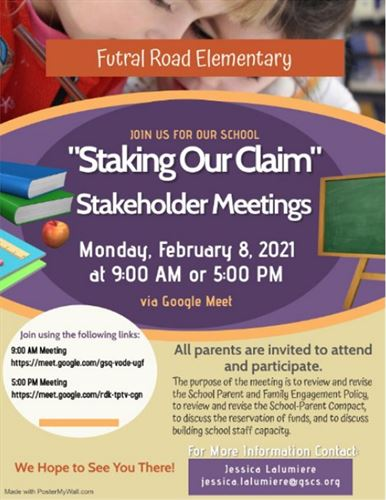 February 8, 2021 Stakeholder Meeting Flyer